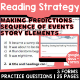 Making Predictions & Sequence of Events: Reading Strategies {Set 4/5} Digital