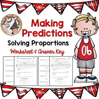 Making Predictions Solving Proportions Practice Worksheet Tables Solve Homework