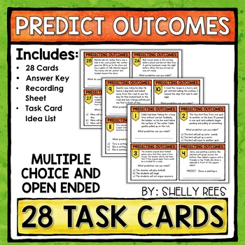 Making Predictions Task Card and Poster Set - Common Core Aligned