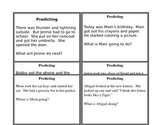 Making Predictions: Task Cards