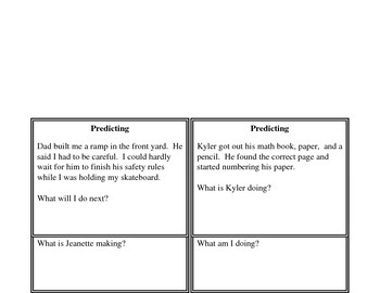 Making Predictions: Task Cards