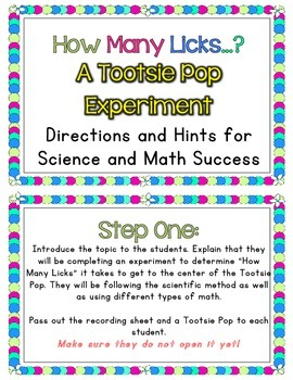 """Making Predictions: Tootsie Pop Experiment """"How Many Licks...?"""""""