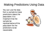 Making Predictions Using Data Lesson PowerPoint