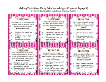 Making Predictions Using Prior Knowledge - Set 2:  Same but Different Contexts