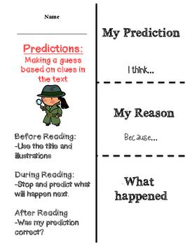 Making Predictions flapbook