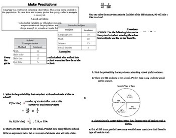 Making Predictions in Math - Interactive Notes