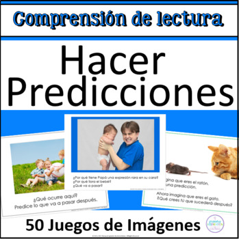 Making Predictions in Spanish with Pictures for Using Evidence & Prior Knowledge