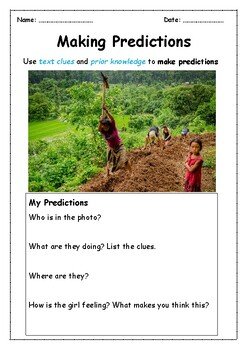 Making Predictions using Photos ONE WEEK of Warm-ups