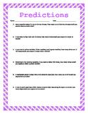 Making Predictions w/ Answer Key