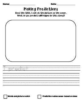 Making Predictions with Self-Assmnt Rubric, Differentiated, Center work