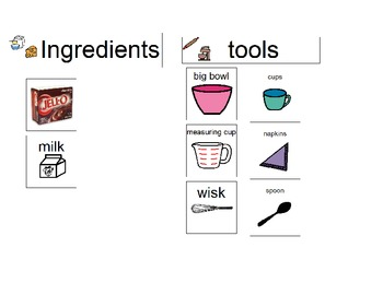 Making Pudding Visual Recipe for the Classroom
