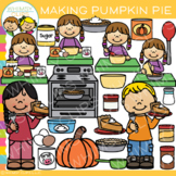 Making Pumpkin Pie Clip Art