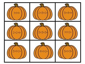 Making Pumpkin Pie Three Addend Match