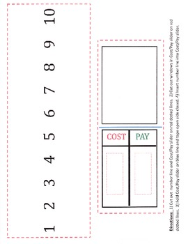 Making Purchases: Visual Aid for Dollar Up Method - Cost/Pay Tool