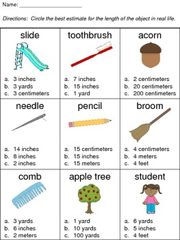 Making Reasonable Estimations in Measurement (Assessment/Activity)