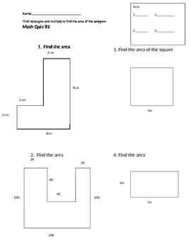 Making Rectangles to Find Area
