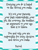 Making Responsible Choices Poster **Freebie**