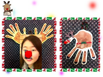 Making Rudolph with hand painting