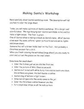 Making Santa's Workshop - Hands- on Christmas literacy activity!