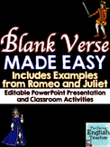 Blank Verse and Iambic Pentameter Made Easy