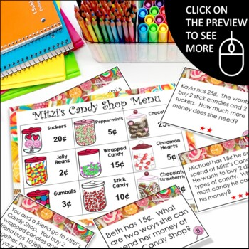 Money Unit: Money Centers, Money Games, Money Activities, Word Problems