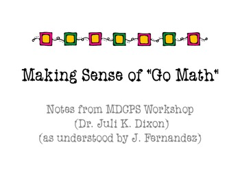 Making Sense of Go Math