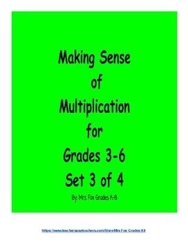 Making Sense of Multiplication Set 3 of 4 (2 x 2 Digit Multiplication)