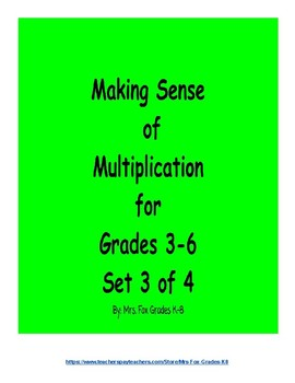 Making Sense of Multiplication Set 3 of 4 (2 x 2 Digit Mul