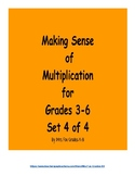 Making Sense of Multiplication Set 4 of 4 (3 x 2 Digit Multiplication)