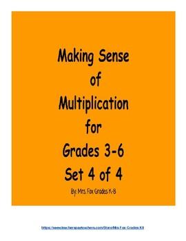 Making Sense of Multiplication Set 4 of 4 (3 x 2 Digit Multiplication)