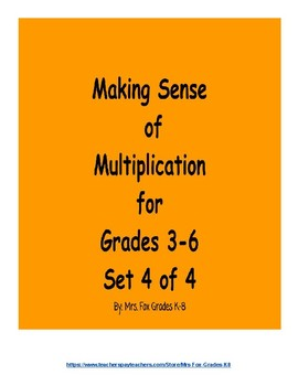 Making Sense of Multiplication Set 4 of 4 (3 x 2 Digit Mul