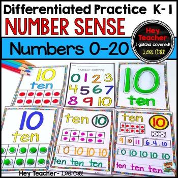 Number Sense-Number Writing Practice 0-20 (Pre K, Kindergarten, First Grade)
