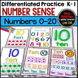 Number Sense-Number Writing Practice 0-20 (Pre K, Kindergarten, First Grade)
