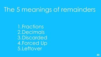Making Sense of Remainders