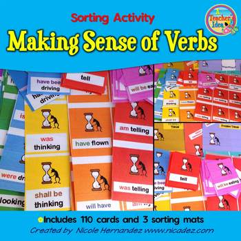Verb Tense - Making Sense Sorting Activity