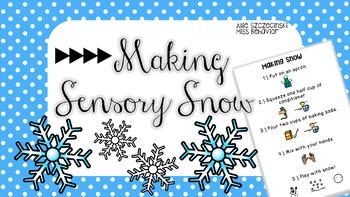 Making Sensory Snow Freebie!