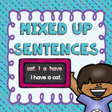 Mixed Up Sentences- Sentence Surgery Printables