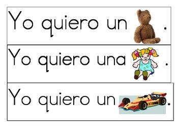 Making Sentences: A Spanish Center