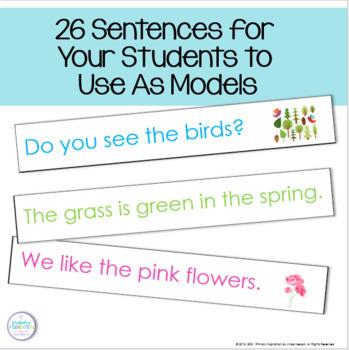 Spring Pocket Chart Sentences
