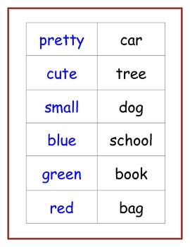 Making Sentences Center: Nouns, Verbs, Adjectives