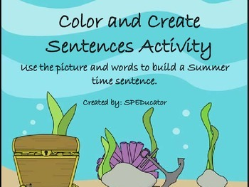 Making Sentences--Color and Create