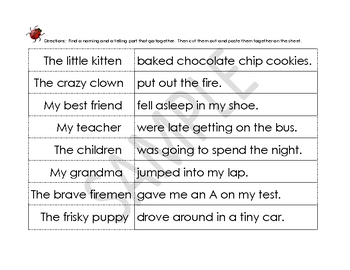 Making Sentences Cut & Paste