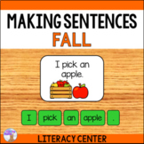 Making Sentences Literacy Center (Fall)