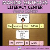 Making Sentences Literacy Center (Homeschool)