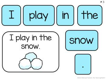 Making Sentences Literacy Center (Winter)