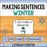 Making Sentences Literacy Center (Winter)