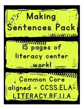 Making Sentences - Literacy Centers