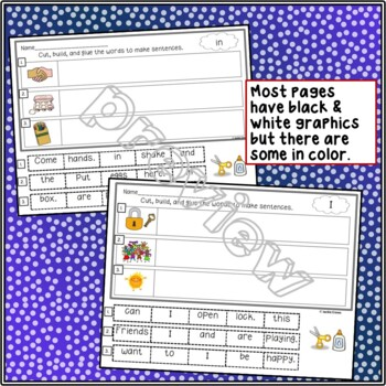 Making Sentences With 38 Sight Words For Early Learners