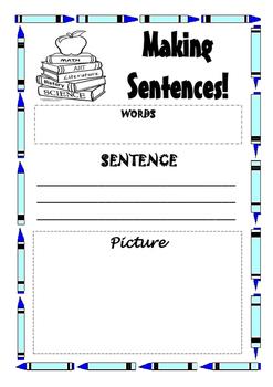 Making Sentences Worksheets