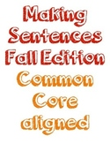 Making Sentences about Fall Pack - Literacy Centers